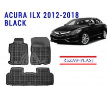 Rezaw-Plast  Rubber Floor Mats Set for Acura ILX 2012-2018 Black