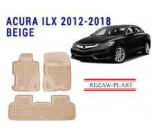 Rezaw-Plast  Rubber Floor Mats Set for Acura ILX 2012-2018 Beige