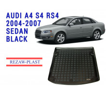 Rezaw-Plast  Rubber Trunk Mat for Audi A4 S4 RS4  2004-2007  Sedan  Black