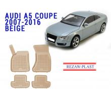 Rezaw-Plast  Rubber Floor Mats Set for Audi A5 Coupe 2007-2016 Beige
