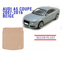 Rezaw-Plast  Rubber Trunk Mat for Audi A5 Coupe 2007-2016 Beige