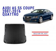 Rezaw-Plast  Rubber Trunk Mat for Audi A5 S5 Coupe 2007-2016 Quattro Black