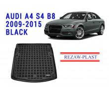 Rezaw-Plast  Rubber Trunk Mat for Audi A4 S4 B8 2009-2015 Black