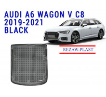 Rezaw-Plast  Rubber Trunk Mat for Audi A6 Wagon V C8 2019-2021 Black