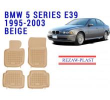 Rezaw-Plast  Rubber Floor Mats Set for BMW 3 Series E36 1994-1999 Beige