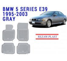 Rezaw-Plast  Rubber Floor Mats Set for BMW 3 Series E36 1994-1999 Gray