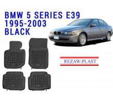 Rezaw-Plast  Rubber Floor Mats Set for BMW 3 Series E36 1994-1999 Black