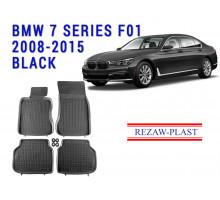Rezaw-Plast  Rubber Floor Mats Set for BMW 7 Series F01 2008-2015 Black