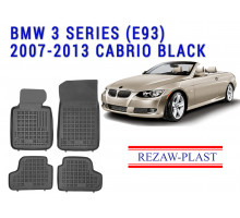 Rezaw-Plast  Rubber Floor Mats Set for BMW 3 Series E93 2007-2013 Cabrio Black