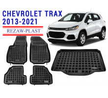 Rezaw-Plast Floor Mats Trunk Liner Set for Chevrolet Trax 2013-2021