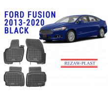 Rezaw-Plast  Rubber Floor Mats Set for Ford Fusion 2013-2020 black
