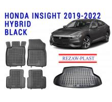 Rezaw-Plast Floor Mats Trunk Liner Set for Honda Insight 2019-2022 Hybrid