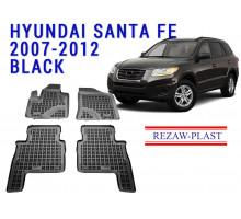 Rezaw-Plast  Rubber Floor Mats Set for Hyundai Santa Fe 2007-2012 Black