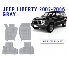 Rezaw-Plast Rubber Floor Mats Set for Jeep Liberty 2002-2006 Gray