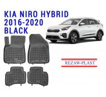 Rezaw-Plast  Rubber Floor Mats Set for Kia Niro Hybrid 2016-2020 Black