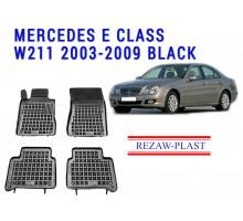 Rezaw-Plast  Rubber Floor Mats Set for Mercedes E Class W211 2003-2009 Black