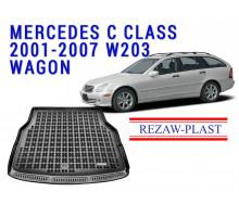 Rezaw-Plast  Rubber Trunk Mat for Mercedes C Class 2001-2007 W203 Wagon