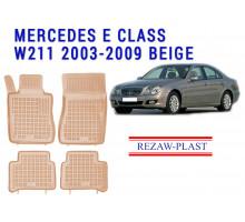 Rezaw-Plast  Rubber Floor Mats Set for Mercedes E Class W211 2003-2009 Beige
