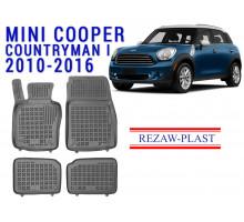 Rezaw-Plast  Rubber Floor Mats Set for Mini Cooper Countryman I 2010-2016