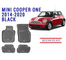 Rezaw-Plast  Rubber Floor Mats Set for Mini Cooper One 2014-2020 Black