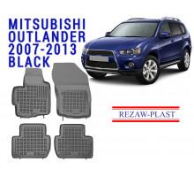Rezaw-Plast  Rubber Floor Mats Set for Mitsubishi Outlander 2007-2013