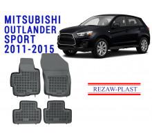Rezaw-Plast  Rubber Floor Mats Set for Mitsubishi Outlander Sport 2011-2015 Black