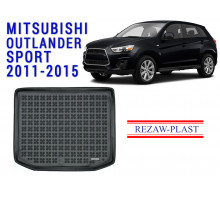 Rezaw-Plast  Rubber Trunk Mat for Mitsubishi Outlander Sport 2011-2015 Black