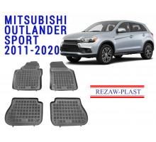 Rezaw-Plast  Rubber Floor Mats Set for Mitsubishi Outlander Sport 2011-2020 Black