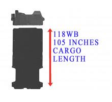 Rezaw-Plast Floor Mats Cargo Liner Set for Dodge Ram Promaster 118WB Black 2014-2022