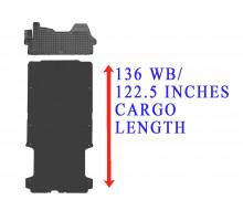 Rezaw-Plast Floor Mats Cargo Liner Set for Dodge Ram Promaster 136WB Black 2014-2022
