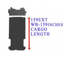 Rezaw-Plast Floor Mats Cargo Liner Set for Dodge Ram Promaster 159EXT WB Black 2014-2022