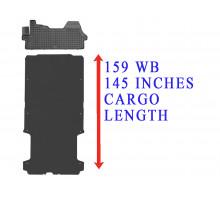 Rezaw-Plast Floor Mats Cargo Liner Set for Dodge Ram Promaster 159WB Black 2014-2022