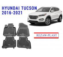 Rezaw-Plast  Rubber Floor Mats Set for Hyundai Tucson 2016-2021