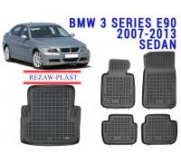 All Weather Floor Mats Trunk Liner Set For BMW 3 SERIES E90 2007-2013 SEDAN Black