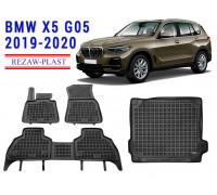 All Weather Floor Mats Trunk Liner Set For BMW X5 G05 2019-2020 Black