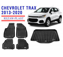 All Weather Floor Mats Trunk Liner Set For CHEVROLET TRAX 2013-2020