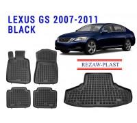 Rezaw-Plast Floor Mats Trunk Liner Set for Lexus GS 2007-2011 Black
