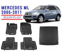 Rezaw-Plast Mats Trunk Liner Set for Mercedes ML 2005-2011 Black