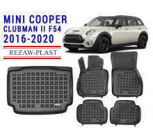 All Weather Floor Mats Trunk Liner Set For MINI COOPER CLUBMAN II F54 2016-2020 Black