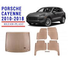 All Weather Floor Mats Trunk Liner Set For PORSCHE CAYENNE 2010-2018 Beige