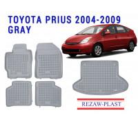Rezaw-Plast Floor Mats Trunk Liner Set for Toyota Prius 2004-2009 Gray