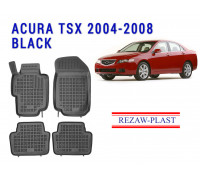 Rezaw-Plast Rubber Floor Mats Set for Acura TSX 2004-2008 Black