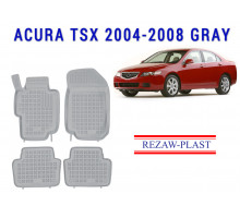 All Weather Rubber Floor Mats Set For ACURA TSX 2004-2008 Gray