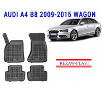 Rezaw-Plast Rubber Floor Mats Set for Audi A4 B8 2009-2015 Wagon Black