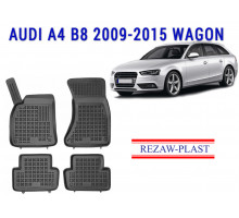 All Weather Rubber Floor Mats Set For AUDI A4 B8 2009-2015 WAGON Black