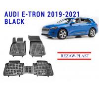 Rezaw-Plast Rubber Floor Mats Set for Audi E-Tron 2019-2021 Black