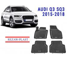 Rezaw-Plast  Rubber Floor Mats Set for Audi Q3 SQ3 2015-2018 Black