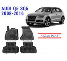 Rezaw-Plast  Rubber Floor Mats Set for Audi Q5 SQ5 2008-2016 Black