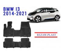 All Weather Rubber Floor Mats Set For BMW I3 2014-2021 Black