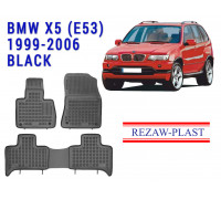 Rezaw-Plast Rubber Floor Mats Set for BMW X5 (E53) 1999-2006 Black